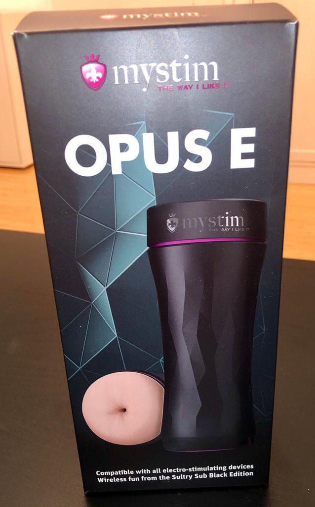 Mystim Opus E Masturbator (Verpackung)