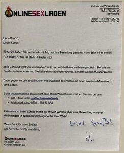 Persönlicher Gruß vom ONLINESEXLADEN.de